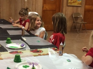 Day 2 VBS craft time K thru 1st