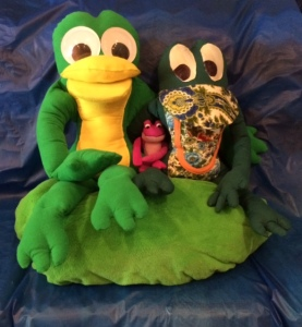 Jack Legg and Jackie Frog after VBS