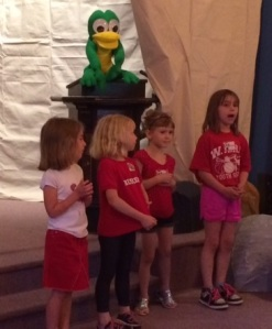 K thru 1st during music on Day 2 of VBS