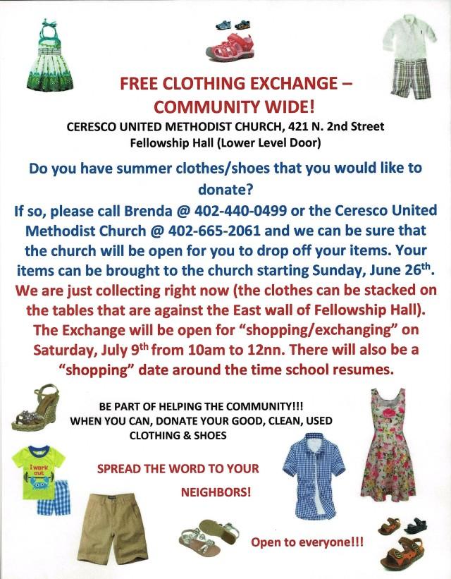 Clothing Exchange June 19, 2016