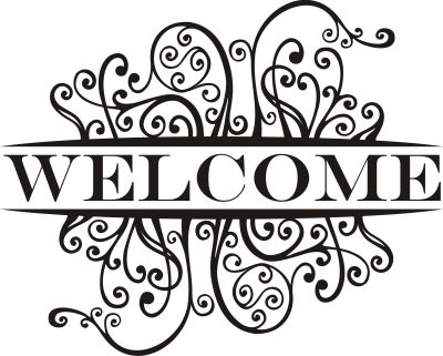 Welcome with scroll work